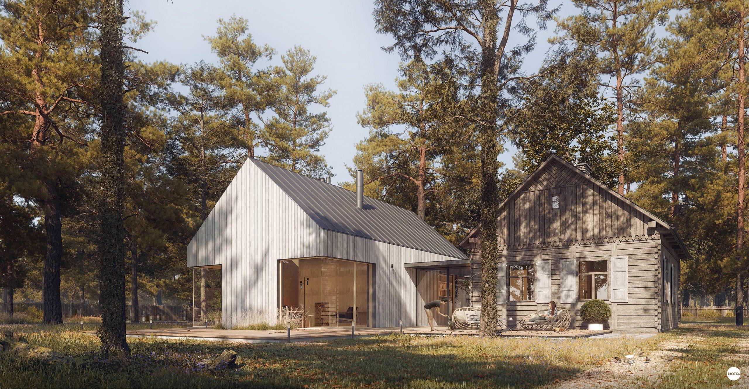 projekt domu z wnętrzami